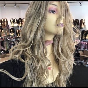 Accessories - Ash blonde wig sale Long Wavy Human hair Blende